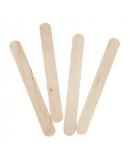 "DYNAREX 6"" WOODEN STIR STICKS / TONGUE DEPRESSORS (500/BOX)"