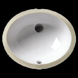 "15"" X 12"" White Oval Lavatory Sink-0"