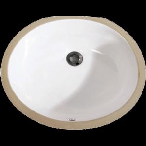 "17"" X 14"" White Oval Lavatory Sink-0"