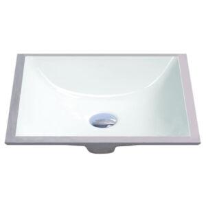 "18"" X 13"" White Square Lavatory Sink-0"